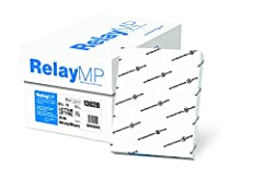 Relay MP is an economical, multi-purpose office paper. 92 brightness. Great for high-volume needs. Excellent runnability and printability. Acid-free. White. Designed for high- and low-speed copiers, off set presses. Basis WT.: 20 Lb. Guarante...