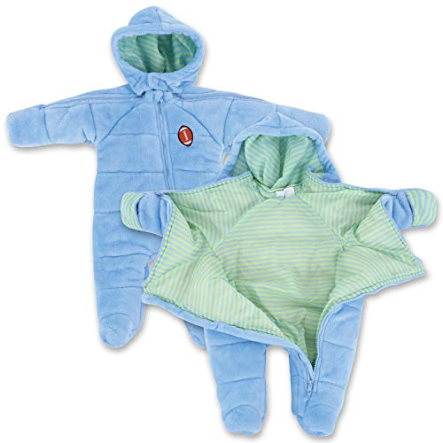 Infant Newborn Football EZ Off Jacket - Blue 3-6 Months