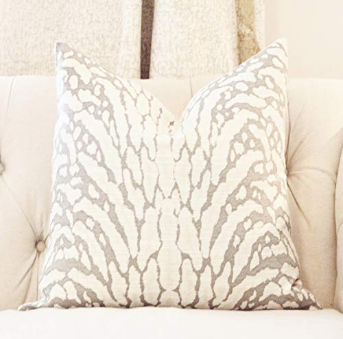 CELYCASY Animal Print Pillow Gray Zebra Pillow Cover Light Gray Neutral Pillow Cover Modern Grey Throw Pillow (Gray Zebra)