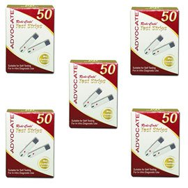 (Advocate Redi-Code Glucose Test Strips 50/bx - Buy 4, Get 1 FREE)