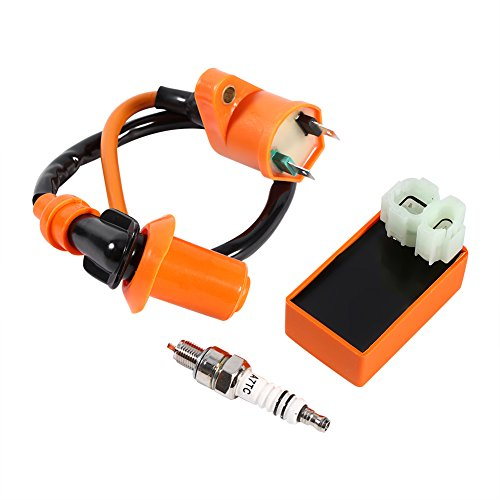 CDI Ignition Coil, New Racing Performance CDI Ignition Coil Spark Plug For GY6 50CC 125CC 150CC: