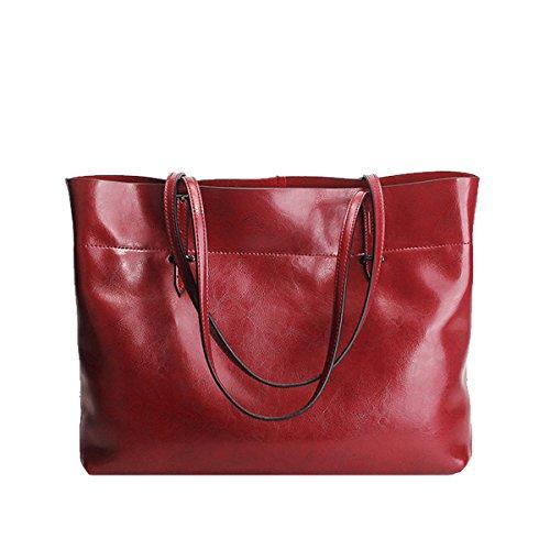 en Bordeaux 8825A femme portés Sac fashion main LF à épaule Sac cuir Valin Yq4xwB6