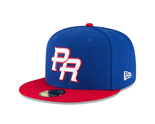- World Baseball Classic Team Puerto Rico Men's 2017 Official On Field 59Fifty Fitted Cap, Blue, 7.625
