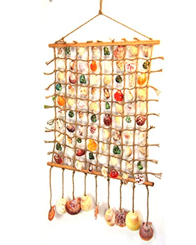 Persofine Natural Seashells Hanging Ornaments,for Balcony,Garden, Yard,Porch,Outdoor,Indoor Décor (A01)