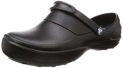 crocs Women's Mercy Clog, Black/Black, 4 M US