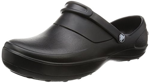 crocs Women's Mercy Clog, Black/Black, 9 M US