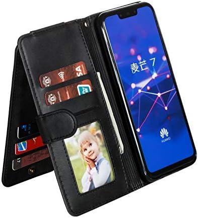 Docrax Huawei Mate20 Lite ケース 手帳型 スタンド機能 財布型 カードポケット マグネット ファーウェイMate20lite 手帳型ケース レザーケース カバー - DOYTE040225 ローズゴールド