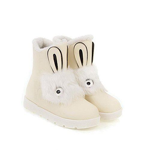 BalaMasa Womens Platform Slip-Resistant Light-Weight Urethane Boots ABL10265 Beige b0yRh5q
