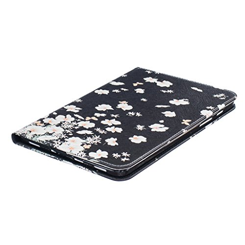 Trumpshop Smartphone Carcasa Funda Protección para Samsung Galaxy Tab S2 8.0 Pulgadas (T710,T715) + Mariposas Verdes + PU Cuero Caja Protector Billetera Choque Absorción Pequeño Floral