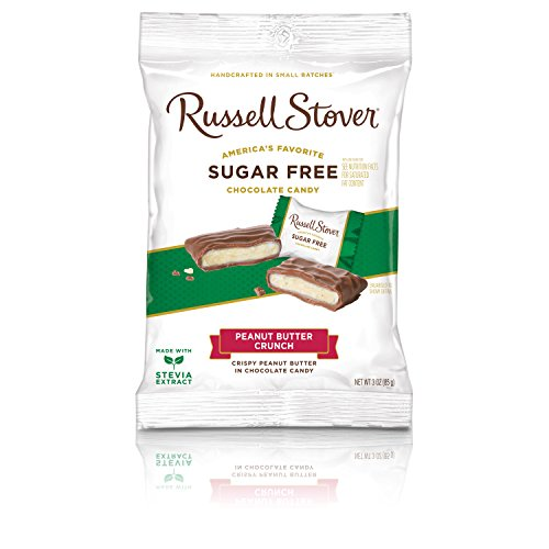 - Russell Stover Sugar Free Peanut Butter Crunch, 3 oz. Bag