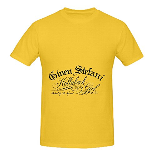 Yellow Silk Spider (Gwen Stefani Hollaback Girl Men Crew Neck Short Sleeve Tee)