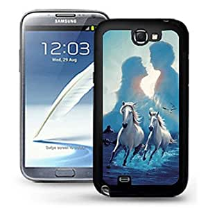 JJE Romantic Lovers Embossment Painting Pattern Plastic Hard Back Case Cover for Samsung Galaxy S4 I9500