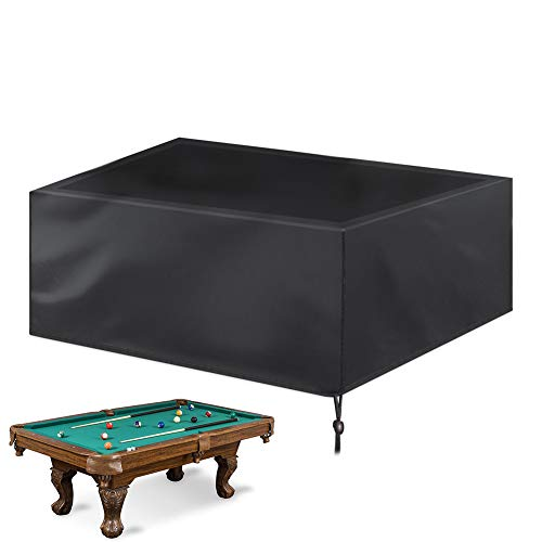 Kasla 7/8/9 ft Billiard/Pool Table Cover Full Protection, Waterproof Heavy Duty Oxford Fabric with Drawstring for Snooker Billiard Table, Black (8ft: 102x53x32in)