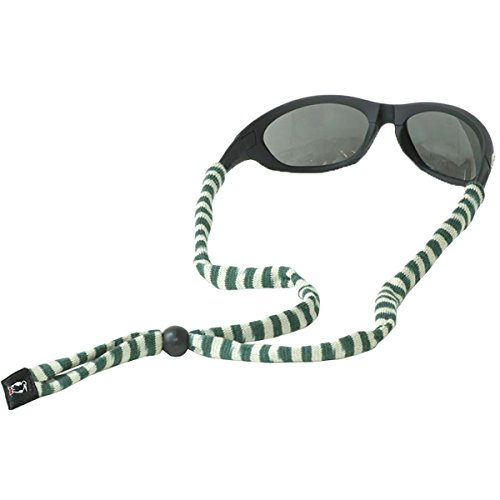 Chums Original Coton Standard Extrémité Eyewear Retainer Hunter/Tan Stripe