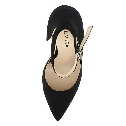 Lisa Evita Textile Shoes Evita Noir Escarpins Femme Shoes dt1HA1q