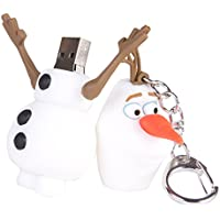 Disney Frozen Olaf 8GB Storage Keychain Mac and PC Compatible Flash Drive