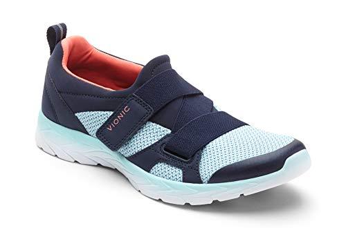Vionic Women's Brisk Dash Slip-on Sneaker Navy Light Blue 7.5W by Vionic