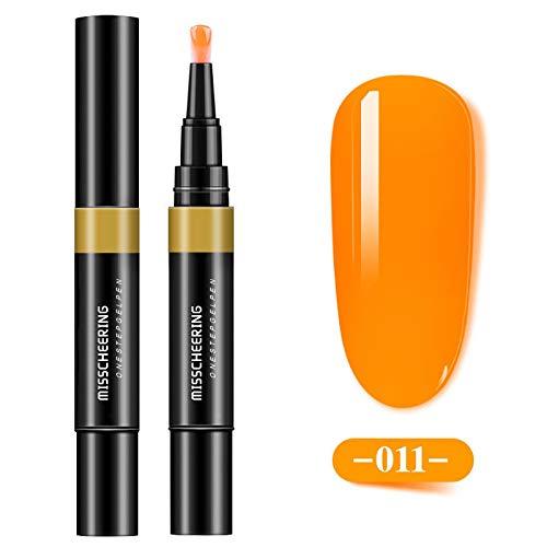 TIFENNY 8ml Nail Polish Nail Art 3 in 1 Step Nail Gel Painting Varnish Pen One Step Nail to Use UV Gel Nail Pen