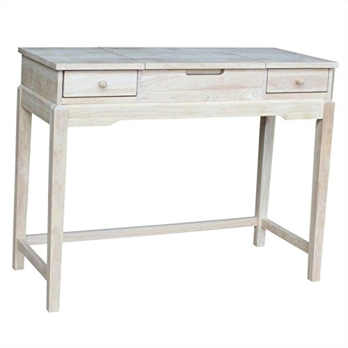 International Concepts Unfinished Vanity Table