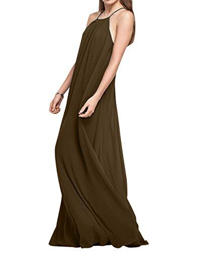 La Elegant Einfach Brautjungfernkleider Abendkleider Braun Brau mia A Festlichkleider Rock Lang Linie Chiffon Partykleider wqAUrwZ