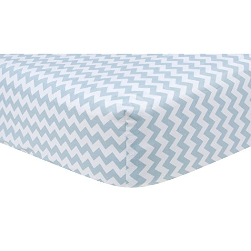 (Trend Lab Blue Sky Baby Bedding Collection Chevron Crib Sheet)