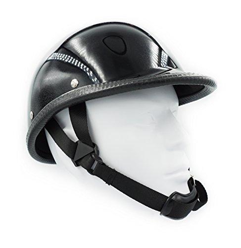 Hot Rides Classic Chopper Biker Motorcycle Helmet Novelty For Cruiser Harley Scooter ATV Hawk Gloss Black (X-Large)