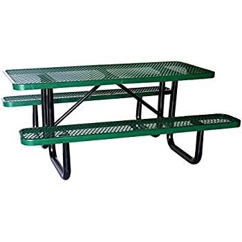 Amazoncom Lifeyard Expanded Commercial Metal Picnic Table - Mesh picnic table
