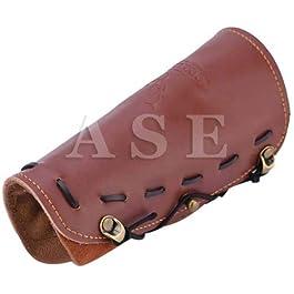 A S ENTERPRISES Handmade Leather Gauntlet Wristband Medieval Archery Bracers Viking Wrist Guard