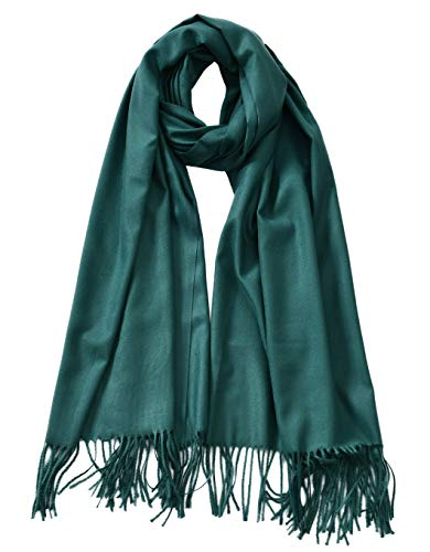 Cindy & Wendy Large Soft Cashmere Feel Pashmina Solid Shawl Wrap Scarf for Women