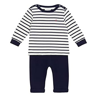 58e5e77271b0 Debenhams J by Jasper Conran Kids Baby Boys  Navy Striped Print Top ...