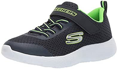 Skechers Australia DYNA-LITE Boys Training Shoe, Navy/Lime, 1 US