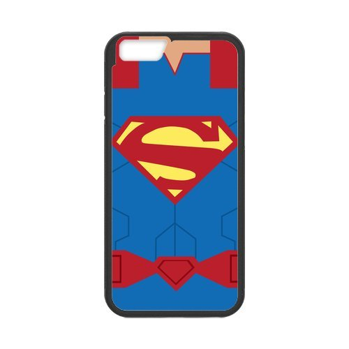 Fayruz- Personalized Protective Hard Textured Rubber Coated Cell Phone Case Cover Compatible with iPhone 6 & iPhone 6S - Superman F-i5G1068