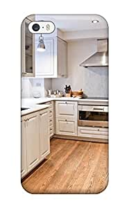 DebAA Case Cover For Iphone 5/5s - Retailer Packaging Kitchen With White Cabinetry And Stainless Appliances Protective Case