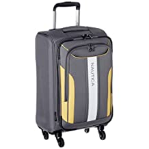 """Nautica Gennaker 20"""" Expandable Luggage Spinner, Grey/Yellow"""