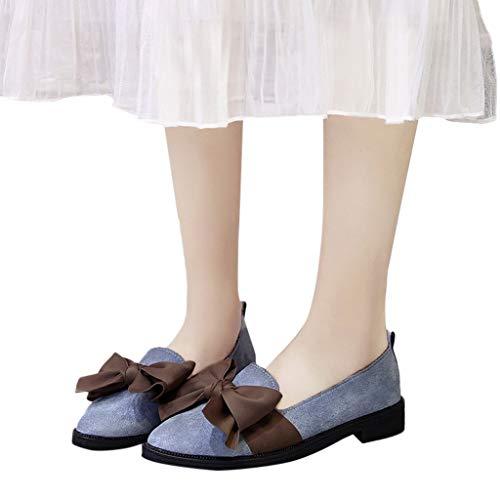 Daim Bout De Simples Chaussures En À Femmes Rond Blue Lacets Paresseuses Antidérapantes Maternité Produp Sport Carré Talon wtqEUx