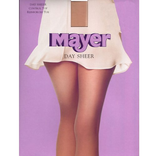 Berkshire Women's Control Top Day Sheer Pantyhose-Reinforced Toe, Jet Black, Petite