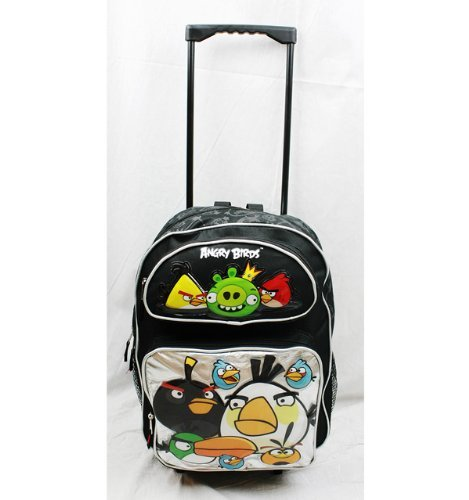 Angry Birds Character Rolling Backpack tote bag school