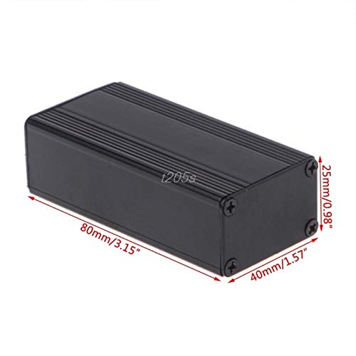 Pukido Aluminum Project Box Enclosure Case Electronic DIY Instrument Case 80x40x25mm T25 Drop ship - (Color: bk) ()