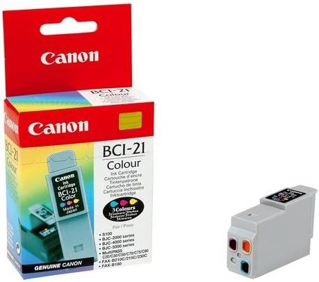 Canon Cartridge BCI-21 3-Color - Cartucho de tinta para impresoras (Inyección de tinta): Amazon.es: Oficina y papelería