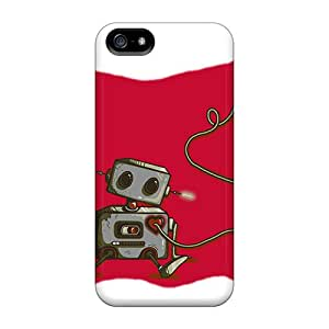 Premium Durable Robot Fashion Tpu Iphone 5/5s Protective Case Cover