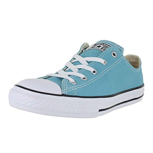 Converse Kid's Boys Girls Chuck Taylor All Star Seasonal Ox Fashion Sneaker Shoe, Aegean Aqua, 13.5
