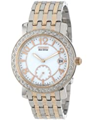 Citizen Womens EV1016-58A Eco-Drive Stainless Steel Watch with SWAROVSKI Crystal Accents