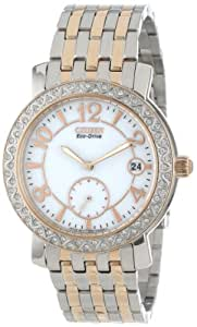 "Citizen Women's EV1016-58A ""Eco-Drive"" Stainless Steel Watch with SWAROVSKI Crystal Accents"