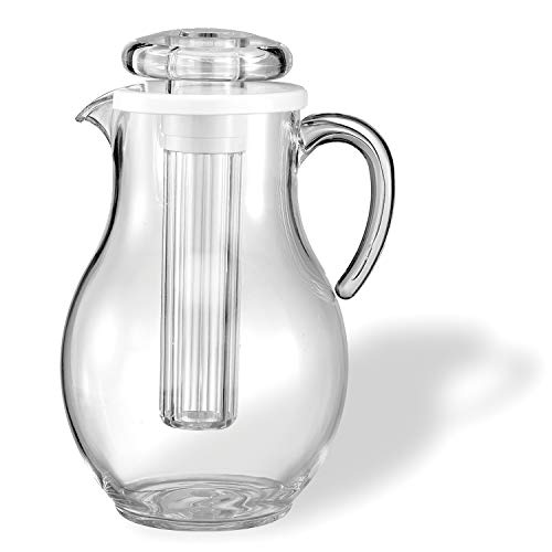 - Service Ideas SWP33SB Pitcher, Acrylic, Smooth Body, 3.2 L