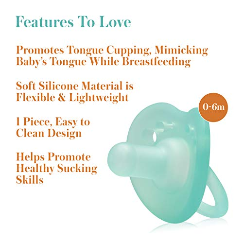 41yhb0TJz0L - Evenflo Feeding Balance Plus Stage 1 Cylindrical Baby, Newborn And Infant Pacifier - Developed With Pediatric Feeding Specialists - 0 To 6 Months (Pack Of 6)