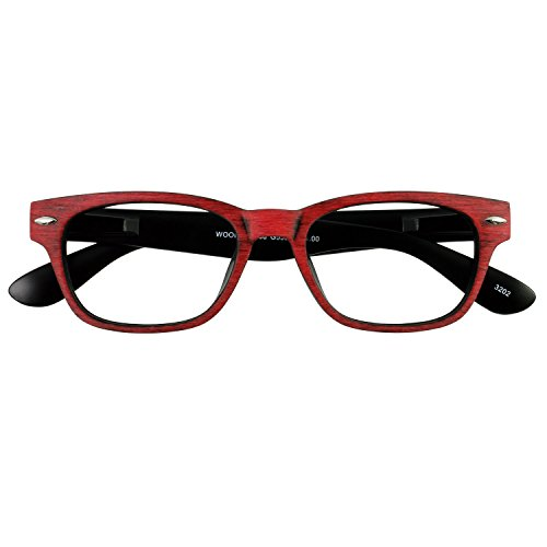 49ea2fa32b I NEED YOU Rectangular Eyeglasses Designer Woody Wood Red Prescription  Eyeglasses For Men   Women Plastic