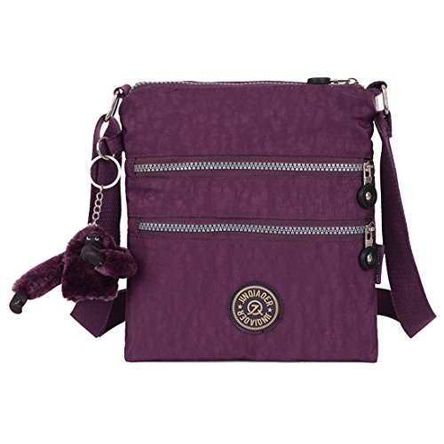 Handbag Crossbody Womens Multi Travel for Casual Messenger Bag Shopping Use Toy Pocket with Monkey Daily Purple Bag Hiking Er8dqzwEx