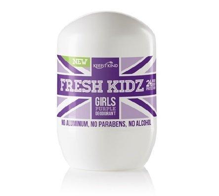 Keep it Kind Fresh Kidz Girls'Purple' Natural Roll On Deodorant 1.86 Fl Oz