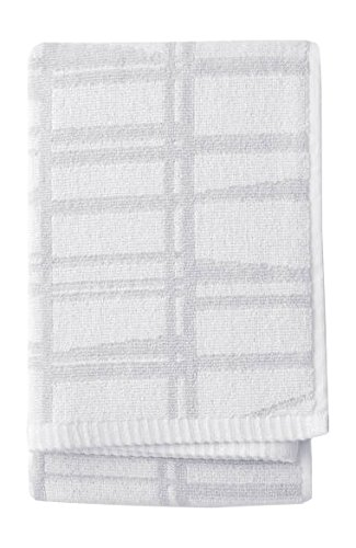 Finlayson Coronna asciugamano, cotone, bianco/grigio, 50 x 70 cm 50x 70cm 70073-3435-03-12