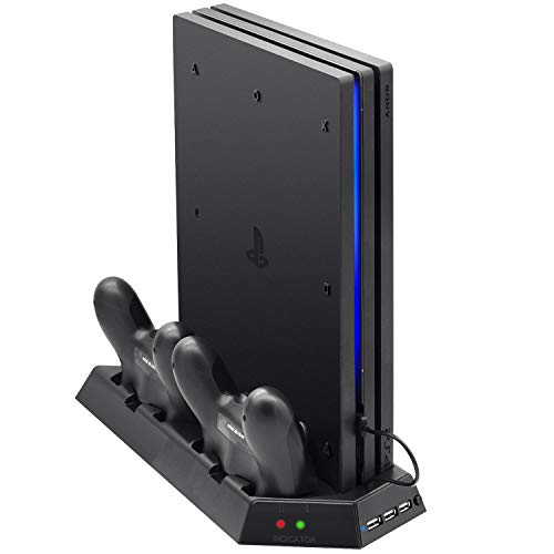 Vertical Stand for PS4 Pro with Cooling Fan, FastSnail...
